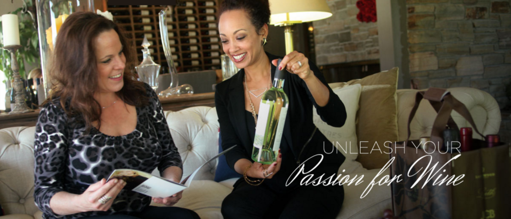 Boisset Wine Living women with wine bottle