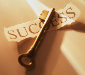 Success label and Key