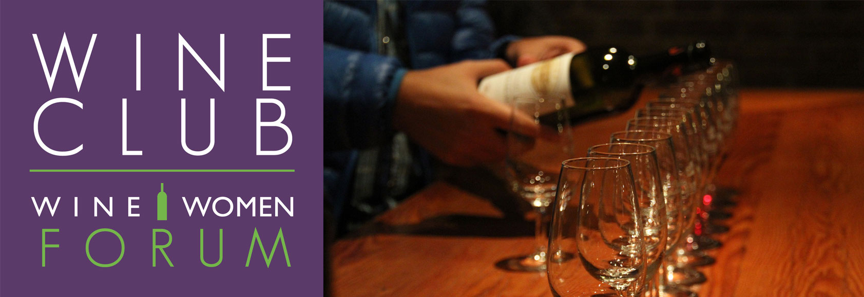 Wine Club Forum Banner with Flight of wine glasses