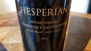 Hesperian Wines bottle closeup
