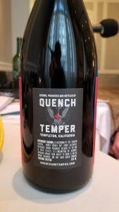 Quench+Temper back label