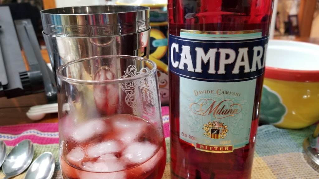 Campari and mixed drink cocktail